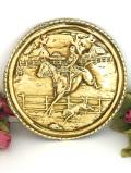 1920年代:狩りを楽しむ英国紳士♪英国アンティークの真鍮の飾り皿