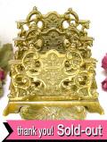 1890年代:ヴィクトリアン時代♪ゴージャスな真鍮細工が素晴らしい無垢の真鍮の大きなレターラック