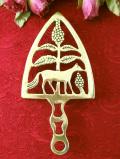 1910年代:エドワーディアン時代♪森の木の実と動物のすかし細工の真鍮のアイロンスタンド