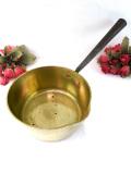 1920年代:レア♪アイアンの持ち手がカントリーな英国アンティークの真鍮の片手鍋