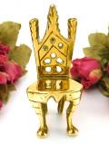 1930年代:金色の輝き♪無垢の真鍮のミニチュアの椅子