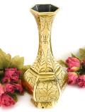 お花たちの真鍮細工♪ずっしりと重たい無垢の真鍮の優雅なフォルムのフラワーベース