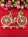 <英国ミッドセンチュリー>金色の輝きの自転車♪英国ビンテージの無垢の真鍮のフックかけ