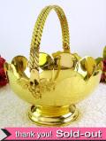 1920年代:素晴らしい真鍮細工のお花のような持ち手付コンポート