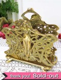 1920年代:とても豪華な女神さまの真鍮細工が美しい貴重なレターラック