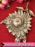 1900年代:とても珍しい無垢の真鍮の英国アンティークの大きなインク壷