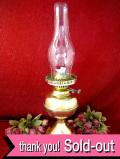 1910年代:エドワーディアン時代♪真鍮細工が美しい英国アンティークの大きなオイルランプ:35800円を→