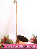 1920年代:レア♪大きくてすべて銅でつくられた珍しい長いハンドルのひしゃく