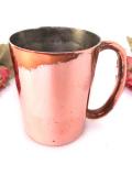 1910年代:真鍮の優雅な持ち手♪無垢の銅でつくられた大きなマグカップ