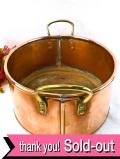 1920年代:無垢の銅でつくられた持ち手付の大きな楕円形のボウル