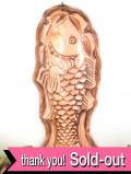 1920年代:ふっくら大きな銅のお魚さん♪とても珍しくて大きな英国のモールド
