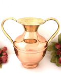 1920年代:真鍮の持ち手♪無垢の銅でつくられた優雅で大きな持ち手付のボウル