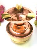 1930年代:無垢の真鍮と銅のコラボレーション♪英国アンティークの珍しいアシュトレイ