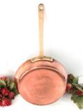 1920年代:レア♪英国アンティークの貴重な無垢の銅の片手パン