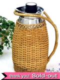 1950年代:籐のカバーがカントリー♪とても珍しい大きな英国のピクニック魔法瓶