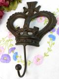 1950年代:優雅な王冠♪珍しくて貴重で大きなアイアンのフック