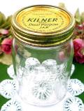 <KILNER社>1950年代:透明なアンティークガラス♪ぽったりとぶ厚い伝統的な保存ビン