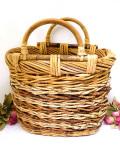 1940年代:カントリーな空気♪英国アンティークの籐で編まれたバスケットのバッグ