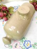 1920年代:きれいなベージュ色♪珍しい英国アンティークのストーンウエアの大きな「湯たんぽ」