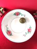 <フランス製>1910年代:優しいバラたち♪直径36.5cmとても貴重なアンティークホーローのウォッシュボウル