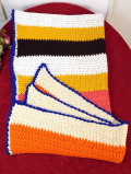 <英国ビンテージ>優しいお色たち♪おばあちゃんが編んだ手編みの大きなグラニーブランケット