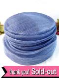 <英国ビンテージHAT>優雅な淡い紫色がかった水色♪ヴィクトリアン貴婦人のようなお帽子