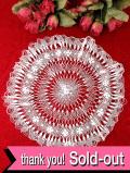 <英国ハンドメイド>繊細で優雅なヘアピンレース♪上品でとても大きな白いお花のドイリー