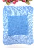 <英国ハンドメイド>美しいブルー♪繊細なレースが優雅な英国のセンタードイリー