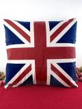 <未使用品>英国ユニオンジャック♪イギリス国旗のクッション「中のクッション付」