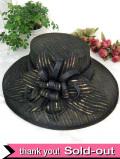 <英国ビンテージHAT>優雅な鳥の羽根♪ヴィクトリアン貴婦人のような黒色の優雅なお帽子