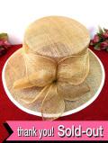 <英国ビンテージHAT:デッドストック(未使用品)>優雅なベージュ色のお花♪ヴィクトリアン貴婦人のようなお帽子