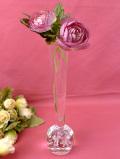 1930年代:上品な透明ガラス♪たくさんの気泡が優しいアンティークガラスの一輪挿し