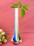1940年代:青と緑と白♪アートフルなガラス細工が美しい円錐形の一輪挿し