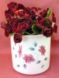 <英国ビンテージ>英国のクレマチスのお花たち♪ぽったりとぶ厚い優しい大きな鉢カバー