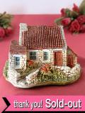 <Lilliput Lane>赤い屋根が可愛い石造りのコテージフィギュア