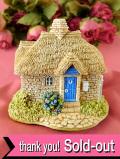 <Lilliput Lane>「SWEET PEA COTTAGE」♪愛らしくロマンチックな幸せを呼ぶ水色ドアの英国カントリーコテージのフィギュア