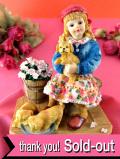 <クリサリスコレクション>「Christine Haworth:LITTLE RASCALS」3匹のわんぱくな子犬と可愛い女の子のフィギュア