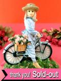 <クリサリスコレクション限定品>「Christine Haworth:THE BICYCLE RIDE」カントリーサイドで自転車に乗る少女のフィギュア
