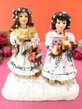 <クリサリスコレクション>「Christine Haworth:STAR ANGELS」キャンドルを手にした星の天使たち二人の少女のフィギュア