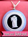 <英国スターリングシルバー>ウェッジウッド:レア♪貴重で珍しい女神様のジャスパーのネックレス