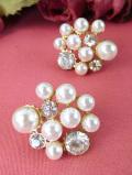 <英国コスチュームジュエリー>1950年代:真珠色に輝くフェイクパールとクリスタルが美しいピアス