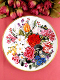 <RHS:英国王立園芸協会>限定品「Flowers of the World」♪世界のお花たちが満開の豪華な絵皿