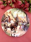 <Royal Doulton:限定品>「The Milkman」♪馬車で絞りたての牛乳を売る英国カントリーサイドの絵皿