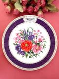 <RHS:英国王立園芸協会>1986年「Chelsea Flower Show Plate」♪華やかなお花たちのエインズレイの絵皿「プレートハンガー付」
