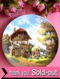 <ドイツ製:Seltmann Weiden:限定品>「ゼルトマン・ワイデン」おだやかなカントリーサイドのコテージと馬の風景の絵皿:通常価格4230円→