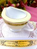 <ノリタケ>1960年代:「GOLDKIN」貴重な金彩のお花たち♪金色に輝くとても大きなミルクジャグ