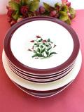 <ウェッジウッド>「MAYFIELD」♪可憐なピンクのお花たち♪「メイフィールド」の大きなお皿&ボウル「6点セット」