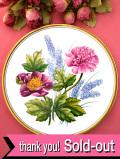 <Spode>「GARDEN FLOWERS」♪ピンクのピオニーと水色のムスカリがきれいな大きな絵皿:通常価格5030円→