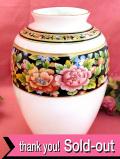 <WEDGWOOD>豪華な金彩とお花たち♪「CLIO」の素晴らしく美しいとても大きなフラワーベース