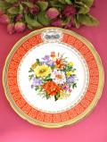 <RHS:英国王立園芸教会>1992年「Chelsea Flower Show Plate」♪華やかなお花たちの絵皿「プレートハンガー付」